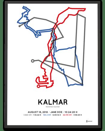 2018 Ironman Kalmar course poster