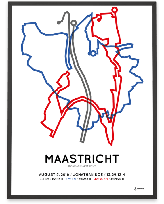 2018 Ironman Maastricht route poster