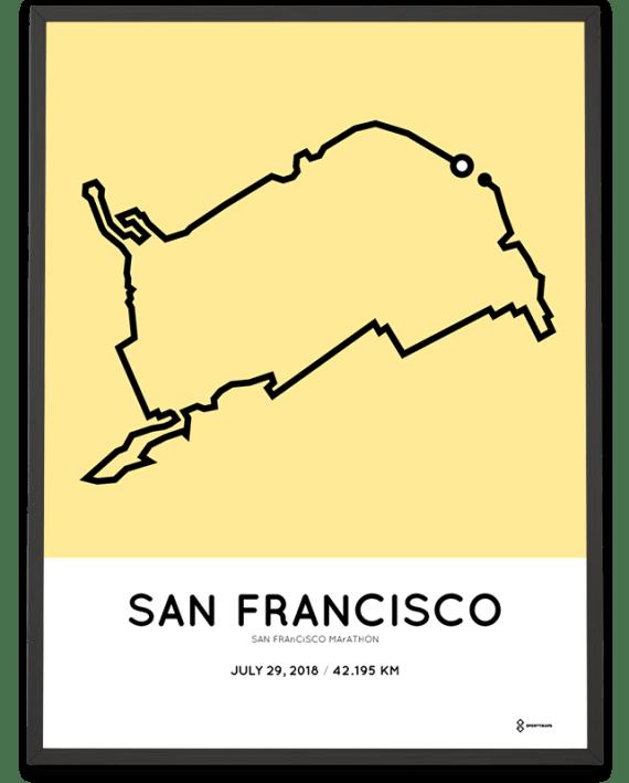2018 San Francisco marathon course poster