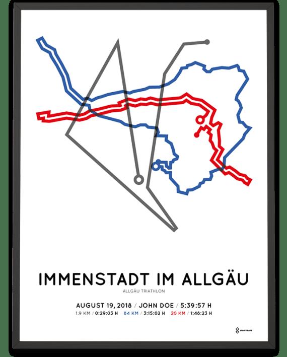 2018 allgau triathlon sportymaps course poster