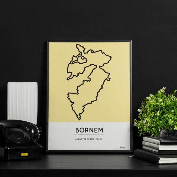 2018 100km Dodentocht bornem wandel route print