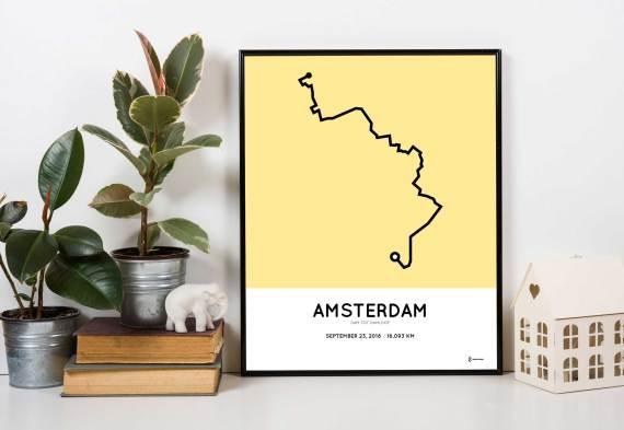 2018 damloop route poster