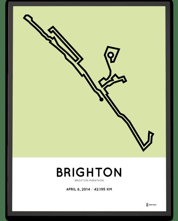 2014 Brighton marathon route map poster