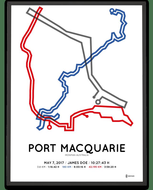 2017 Ironman Port Macquarie print