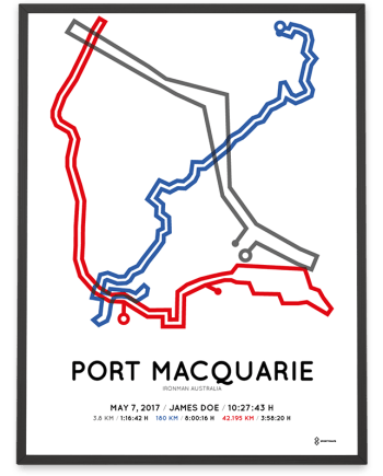 2017 Ironman Port Macquarie Australia course poster