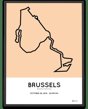 2018 Brussels marathon course poster