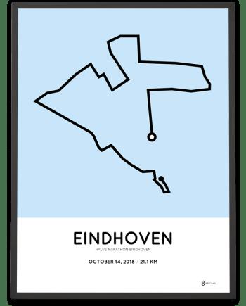 2018 Eindhoven halve marathon route print