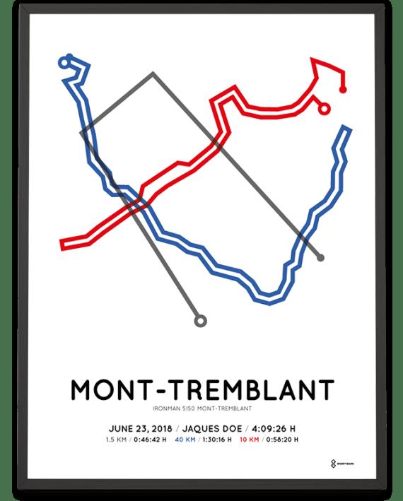 2018 Ironman 5i50 Mont-Tremblant parcours print