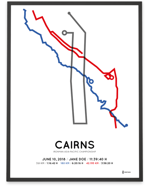 2018 Ironman Cains route map poster