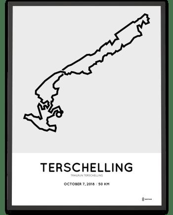 2018 trailrun terschelling 50km parcours print