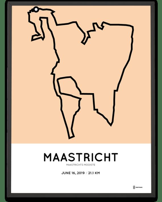 2019 Maastrichts mooiste halve marathon parcours poster
