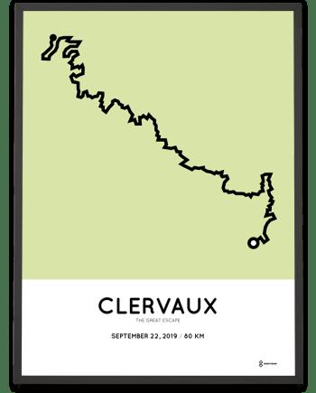 2019 The Great Escape 80km parcours poster