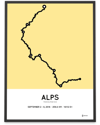 2018 Transalpine run sportymaps course poster