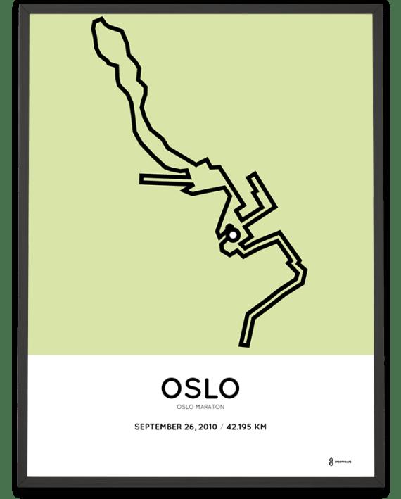 2010 Oslo marathon course poster