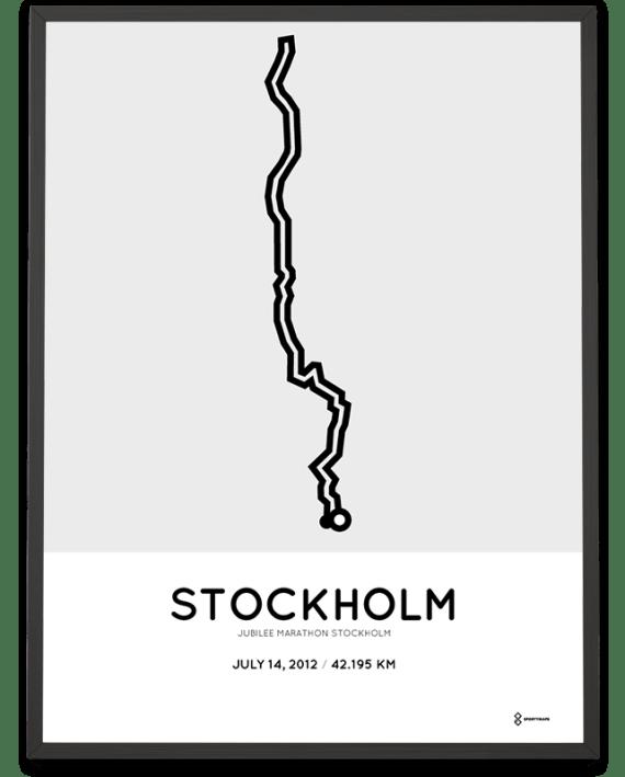 2012 Stockholm Jubilee marathon course poster
