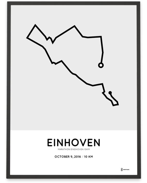 2016 Eindhoven marathon 10km route poster
