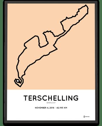 2018 Berenloop marathon Treschelling route poster