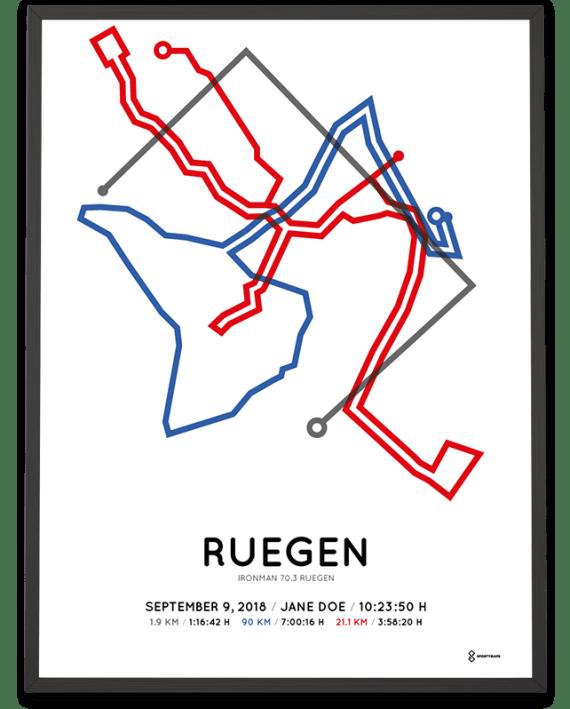 2018 Ironman 70.3 Ruegen course poster