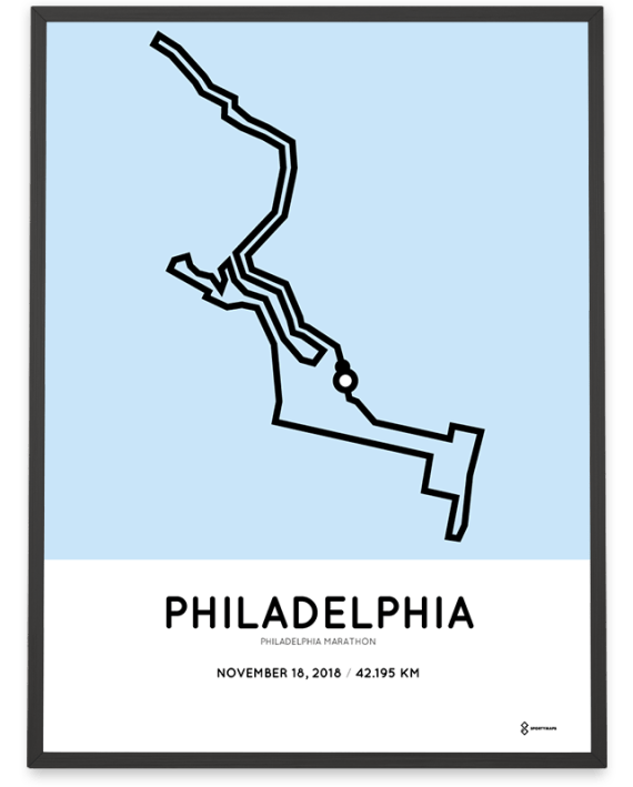 2018 Philly marathon course poster