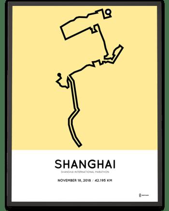 2018 Shanghai International marathon course sportymaps poster