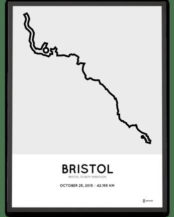2015 Bristol to Bath marathon course poster