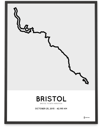 2015 Bristol to Bath marathon course poster