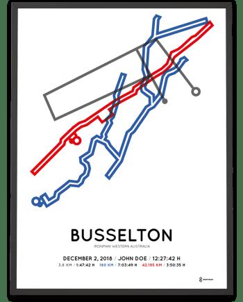 2018 Ironman Western Australia Busselton course poster