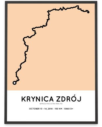 2018 Lemkowyna Ultra-trail 150 km course poster