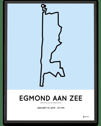 2019 Egmond Halve Marathon Sportymaps parcours poster