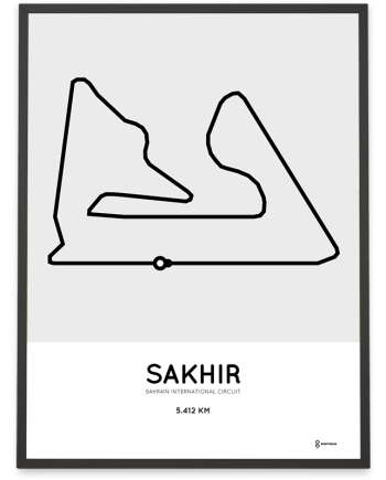Bahrain F1 circuit racetrack poster