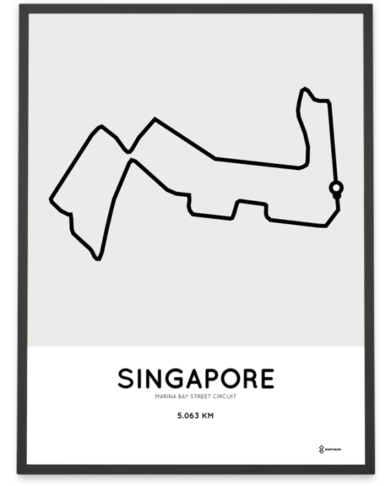 Marina Bay Street Circuit Singapore poster
