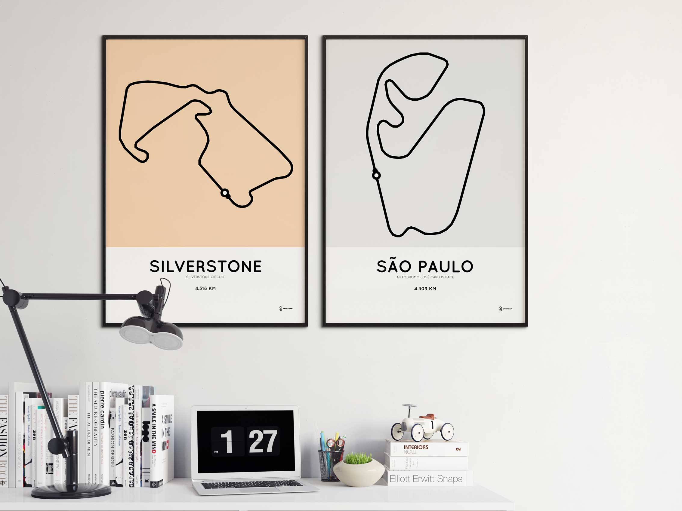 Sportymaps racetrack circuit prints