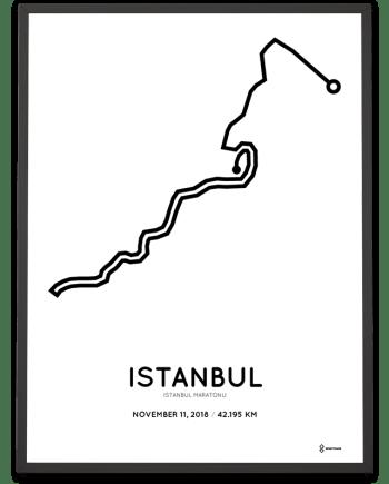 2018 Istanbul maratonu course poster