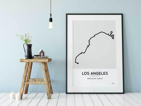 2019 LA marathon course poster