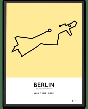 2019 Berlin half marathon course poster
