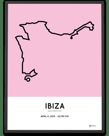 2019 Ibiza marathon course poster