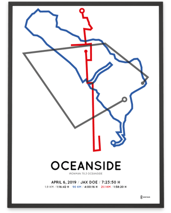 2019 Ironman 70.3 Oceanside course poster