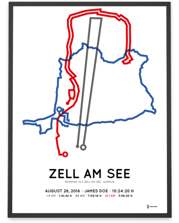 2016 Ironman 70.3 Zell am See routemap poster