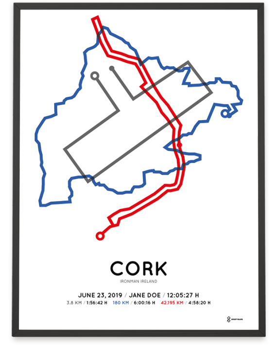 2019 Ironman Ireland cork routemap poster