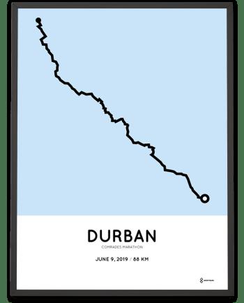 2019 Comrades marathon sportymaps routemap print