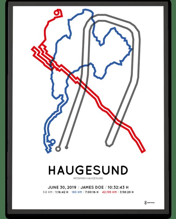 2019 Ironman Norway Haugesund course poster
