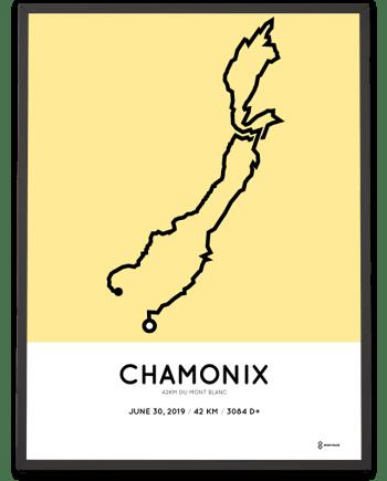 2019 Marathon du Mont Blanc parcours poster