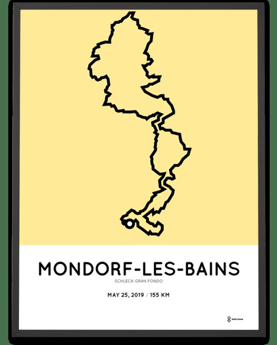 2019 Schleck Gran Fondo course poster