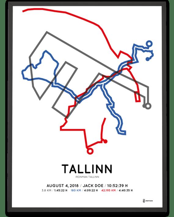 2018 Ironman tallinn course poster sportymaps