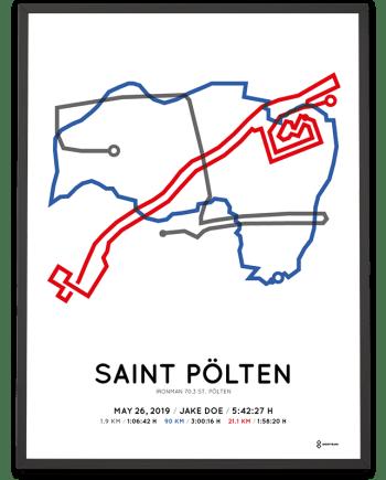 2019 Ironman 70.3 st Pölten parcours poster