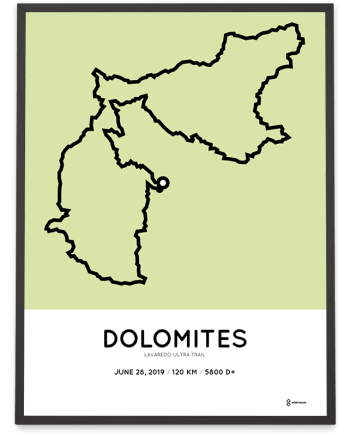2019 Lavaredo Ultra trail routemap poster