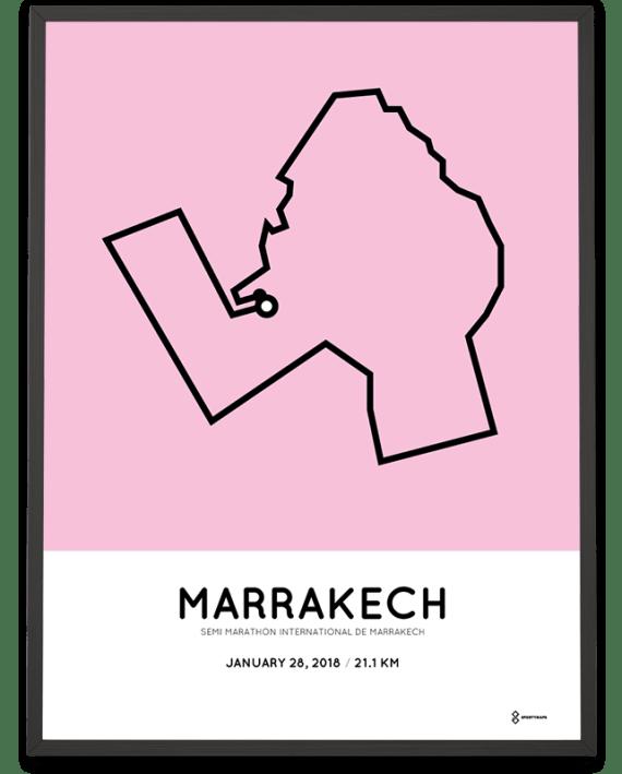 2019 Marrakech half marathon course poster
