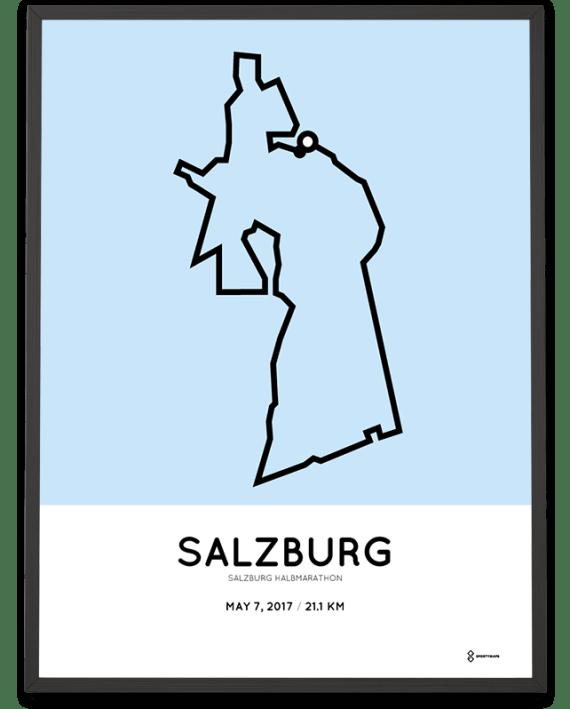 2017 Salzburg halbmarathon strecke poster