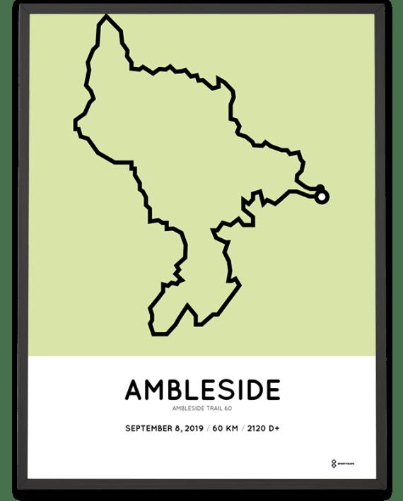 2019 Ambleside trail 60 course poster