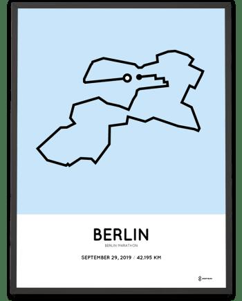 2019 Berlin marathon strecke poster
